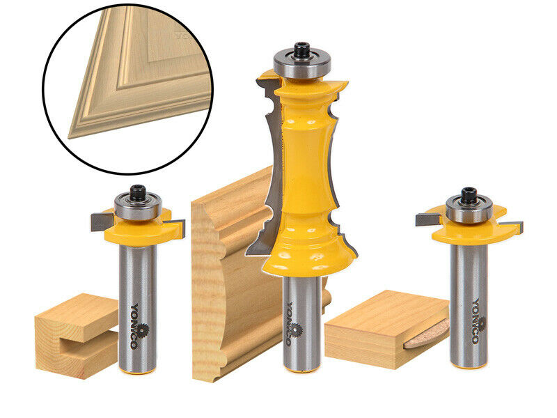 kitchen cabinet door router bits mitered door router bit set frames amp molding bit yonico 18589