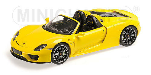 minichamps 1 18 porsche 918 spyder 2013 yellow 110 062434 ebay. Black Bedroom Furniture Sets. Home Design Ideas