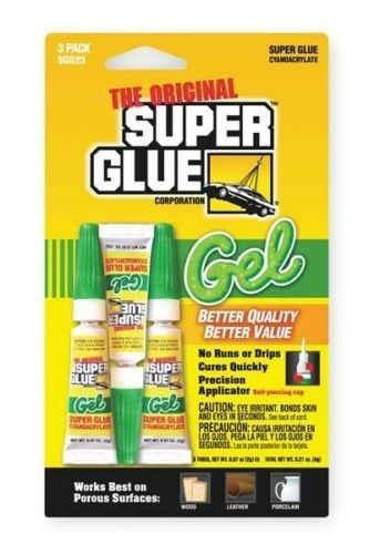 super glue instant adhesive gel 2g tube pk 3 ebay. Black Bedroom Furniture Sets. Home Design Ideas