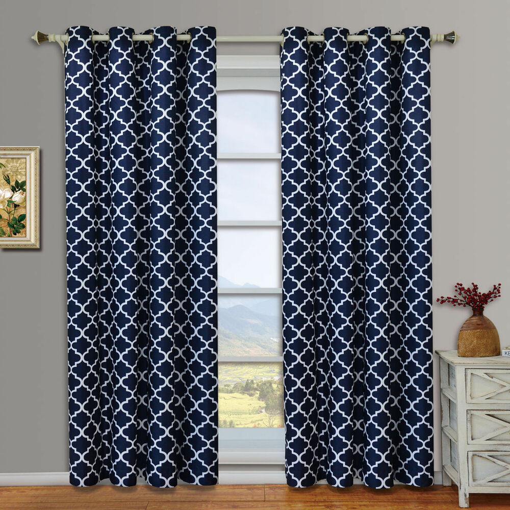 Set Of 2 Meridian Design Thermal Insulated Blackout
