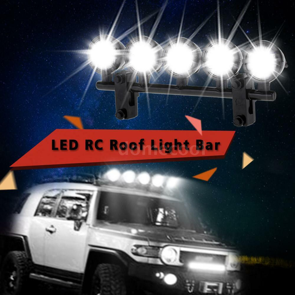 G.T.POWER LED Roof Light Bar Set 5 Spotlight For RC