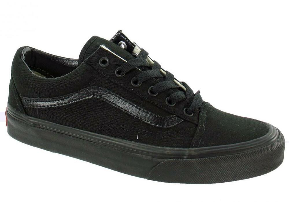 vans classic old skool canvas all black fashion mens. Black Bedroom Furniture Sets. Home Design Ideas