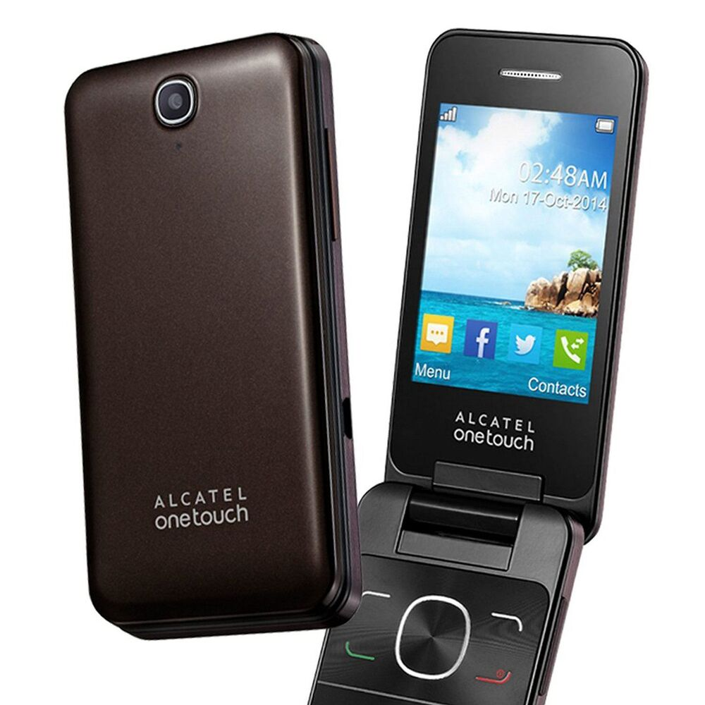 alcatel 2012g mobile phone chocolate sim free unlocked big buttons new ebay. Black Bedroom Furniture Sets. Home Design Ideas
