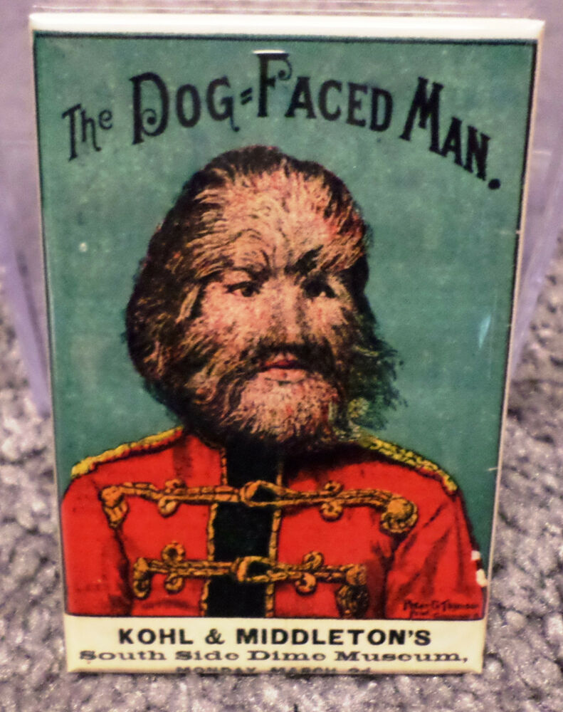 Dog Face Man Freak Show Circus Vintage Poster 2 Quot X 3
