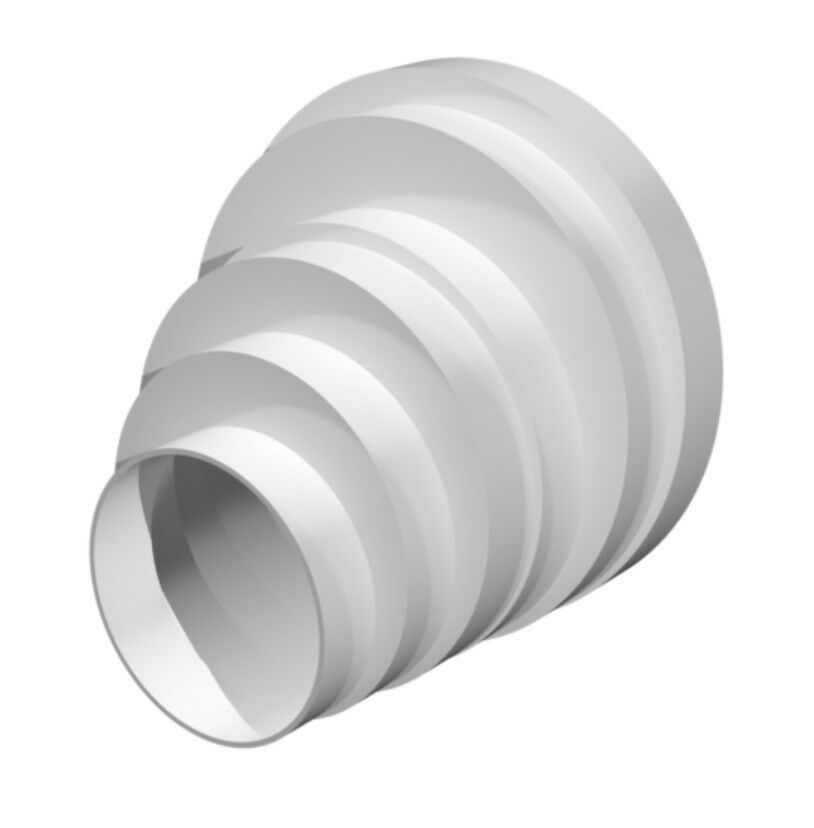 Ducting pipe reducer extractor fan offset tube connector - Bathroom exhaust fan duct reducer ...