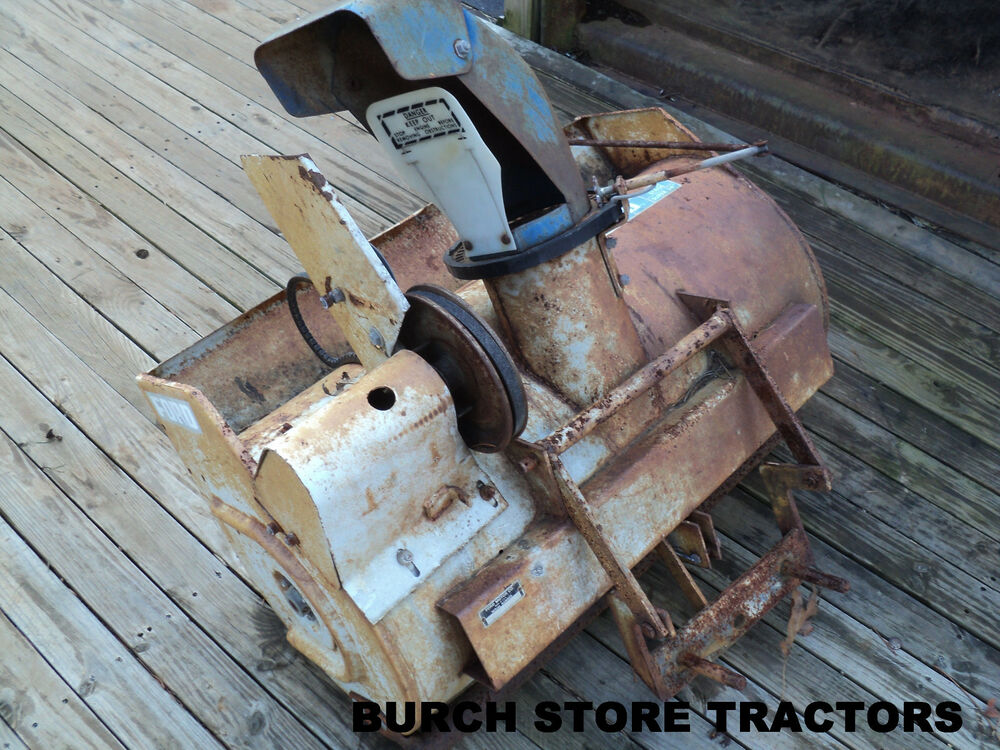 Ford Snow Thrower Parts : Ford lawn tractor mower super quot snow blower ebay
