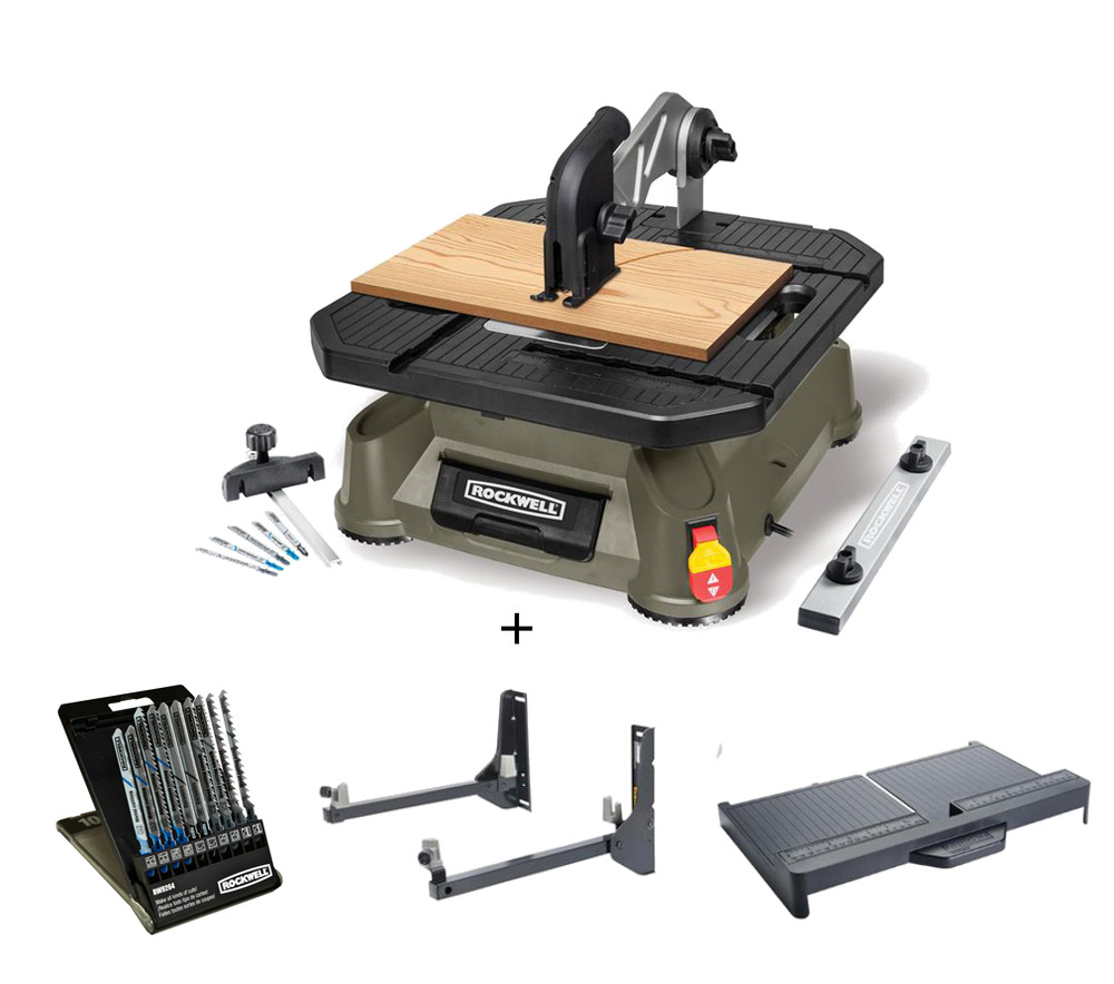 The Cross Cut Saw On A Wall Mount : Rk rockwell bladerunner tabletop saw combo ebay