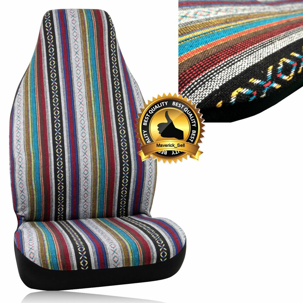seat cover blanket baja mexican bell automotive baja blanket universal bucket ebay. Black Bedroom Furniture Sets. Home Design Ideas