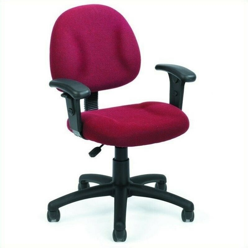 boss office products dx posture office chair with adjustable arms in