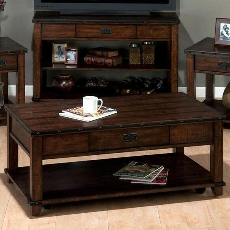 Kilburn Storage Coffee Table: Jofran Coffee Table Mahogany Storage Tables In Cassidy