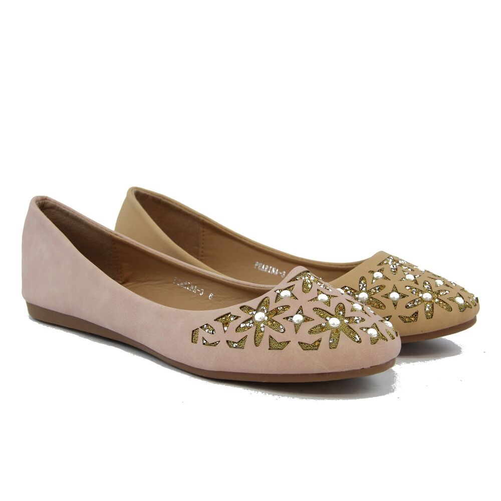 Women Flats Comfort Fashion Cute Rhinestone With Pearl