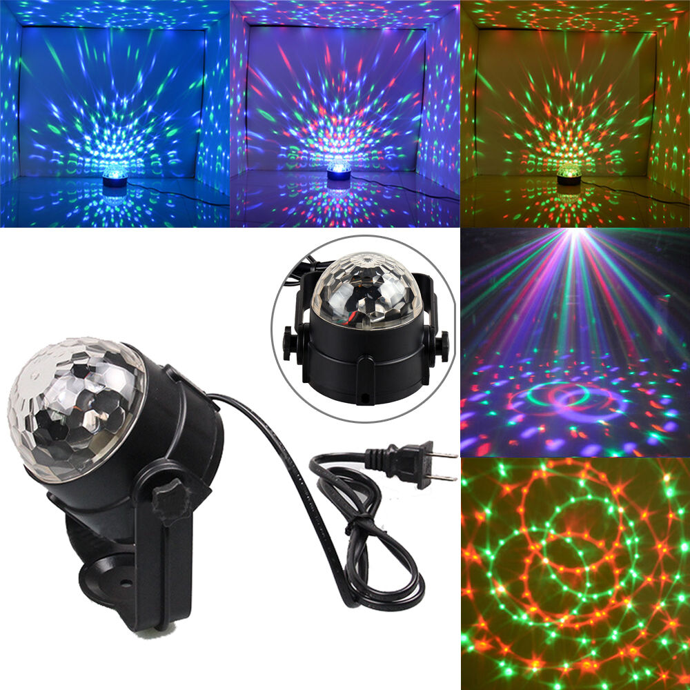 Led Wall Dj Light: 3W RGB Magic Rotating Ball Effect Led Stage Lights KTV