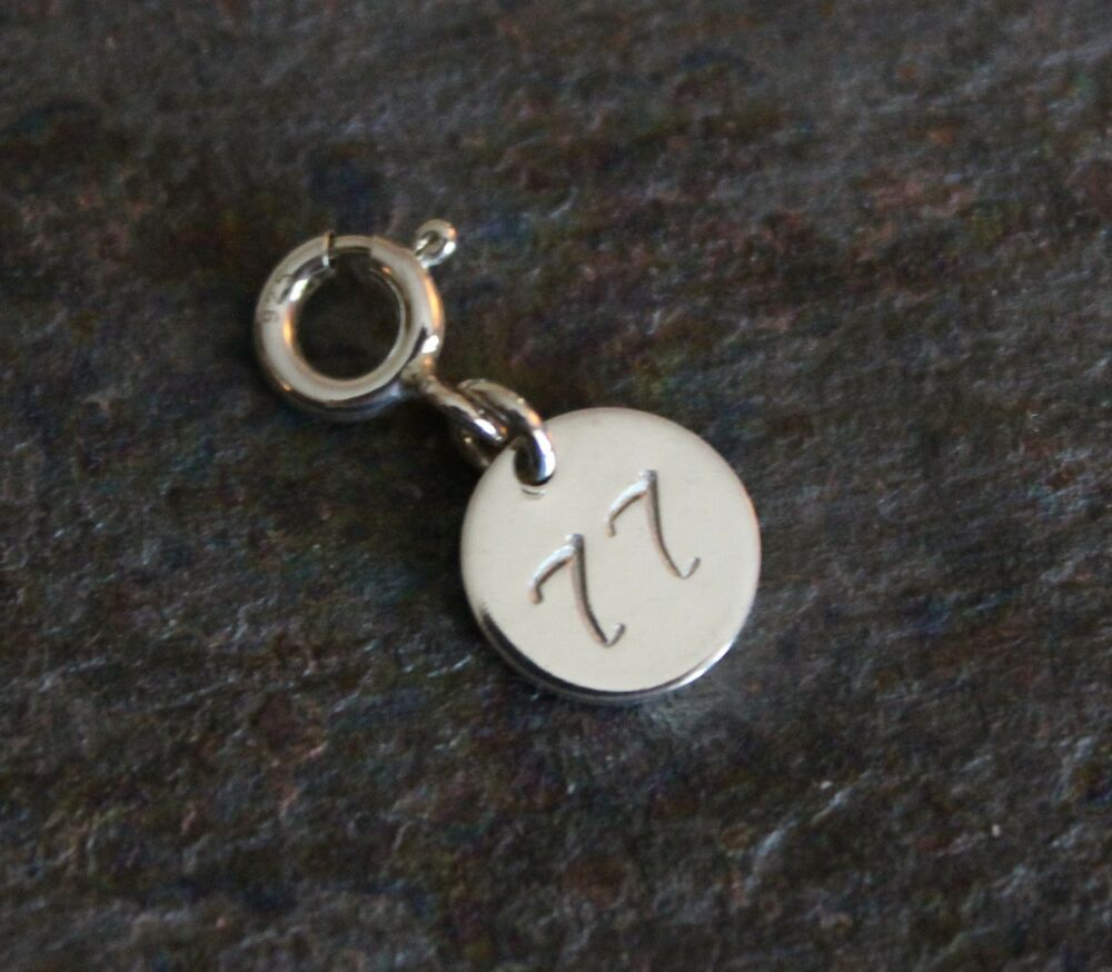 personalized number charm 61 99 available 925