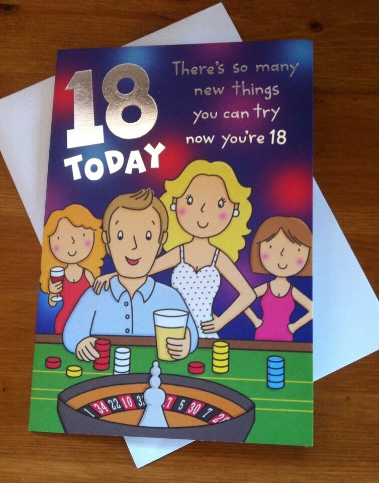 18th Birthday Cards Male ~ Today th birthday card for male funny humour ebay