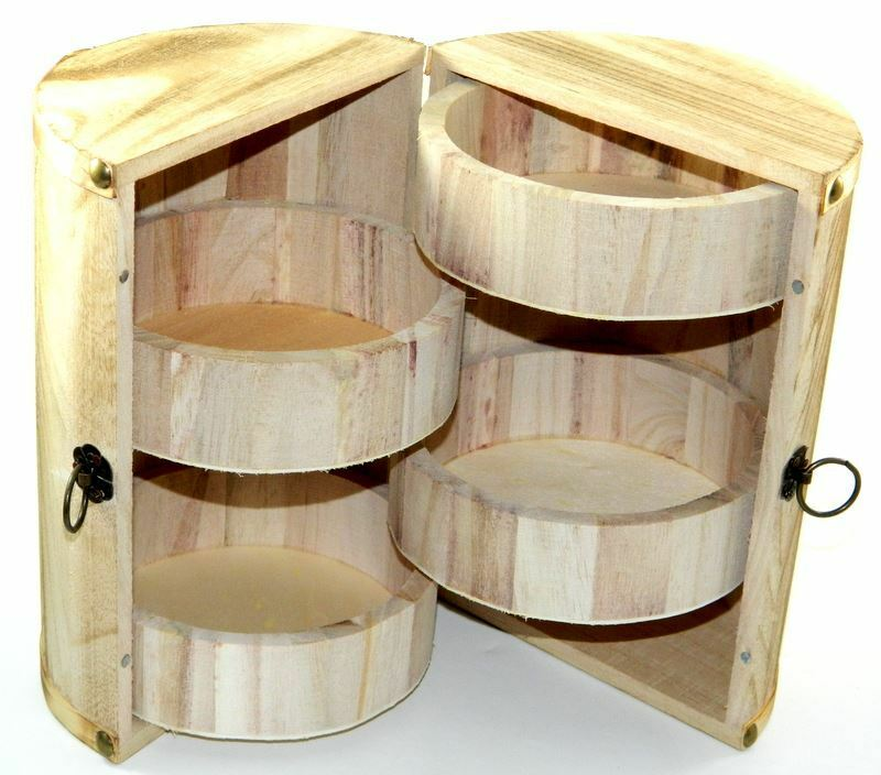 Design Your Own Wood Box Barrel DIY Unfinished Trinket