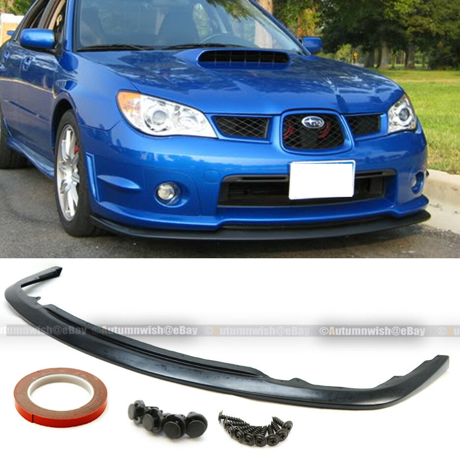 for 06 07 impreza wrx sti sedan outback wagon s204 front bumper lip ebay. Black Bedroom Furniture Sets. Home Design Ideas
