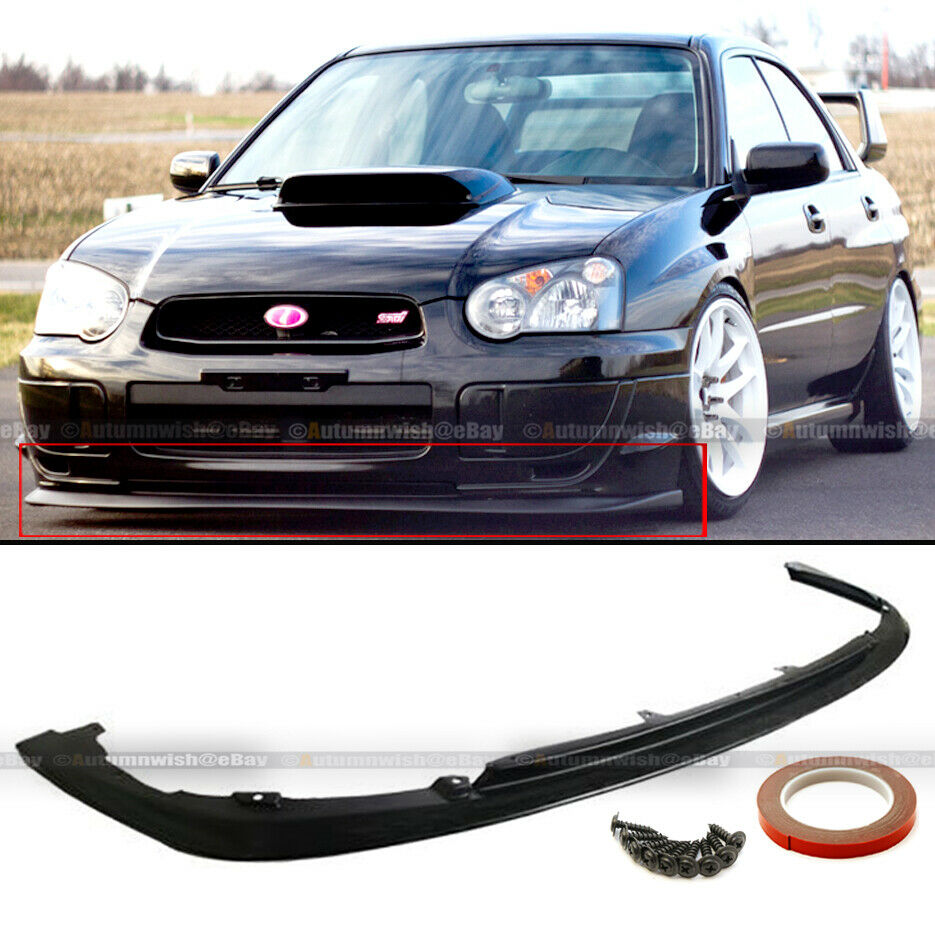 fits 04 05 wrx sti s203 v limited style pu front bumper chin lip kit ebay. Black Bedroom Furniture Sets. Home Design Ideas