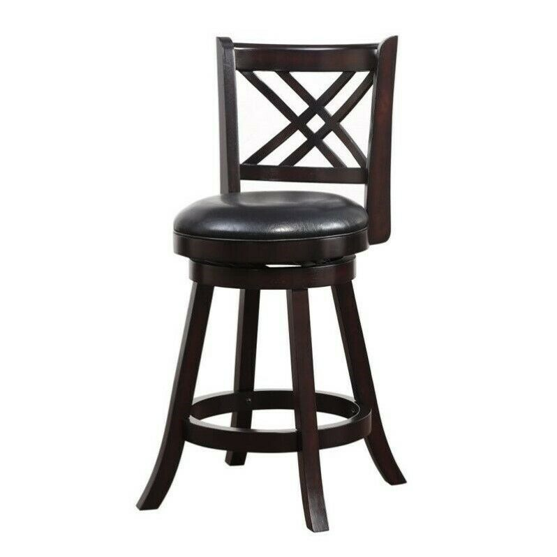 Boraam Porto 24 Quot Swivel Counter Stool In Merlot