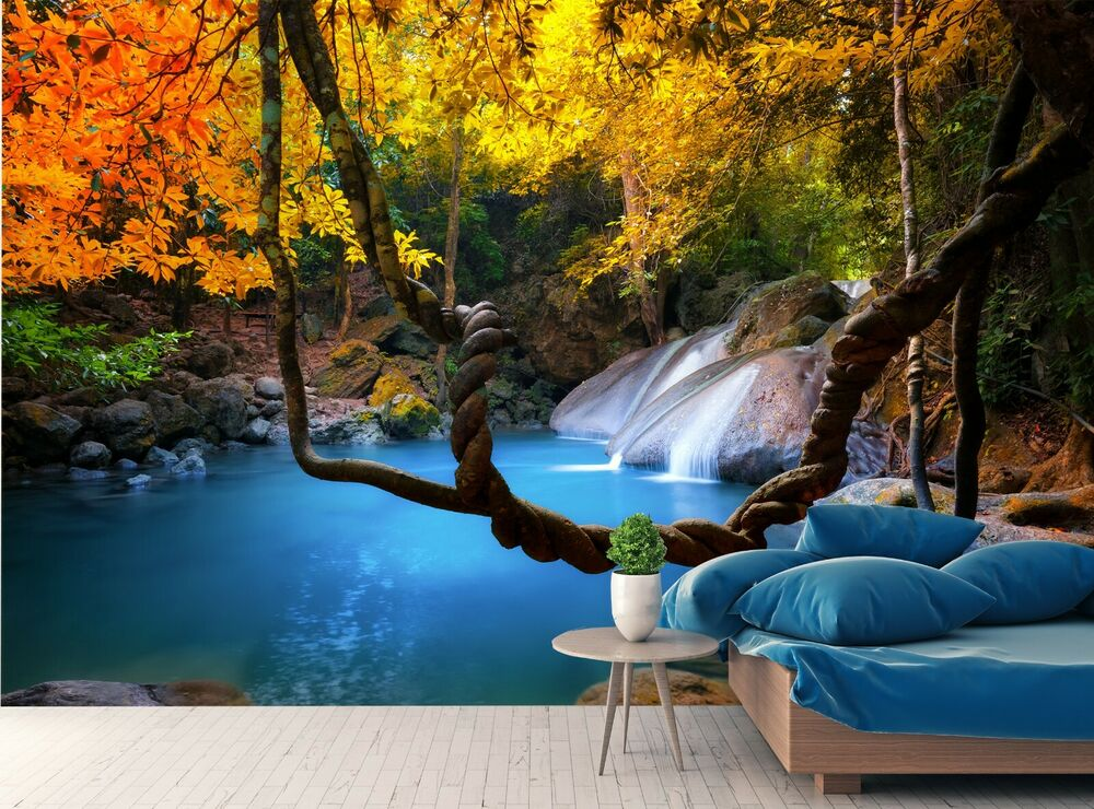 Amazing beauty asian nature wall mural photo wallpaper for Asian wallpaper mural