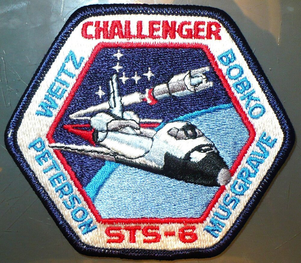 1983 SPACE SHUTTLE CHALLENGER STS 6 MISSION PATCH FIRST ...