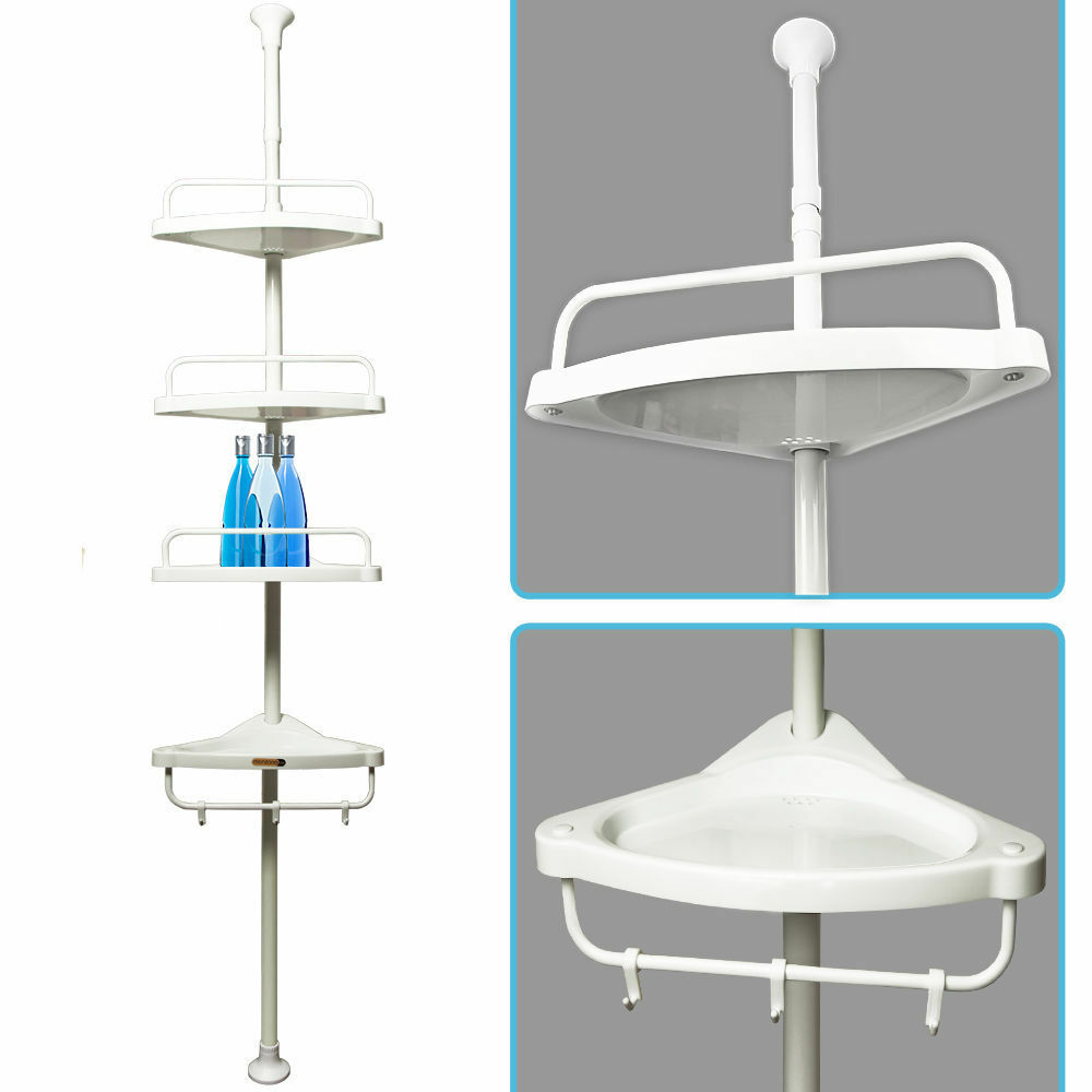 Bathroom Shower Corner Shelves: Telescopic Shower Shelf Caddy Bathroom Corner Storage Unit