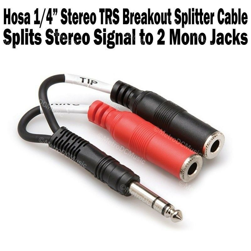 Hosa 1 4 Quot Stereo Trs Male To 2 Ts Mono Female Jack