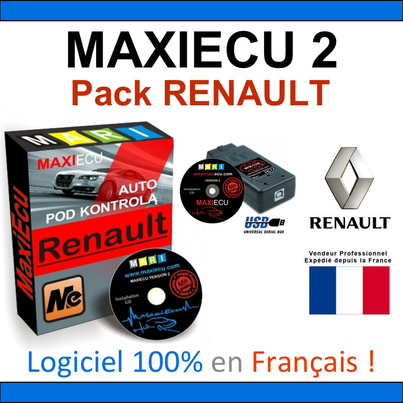 maxiecu 2 mpm com valise diagnostic renault can clip. Black Bedroom Furniture Sets. Home Design Ideas