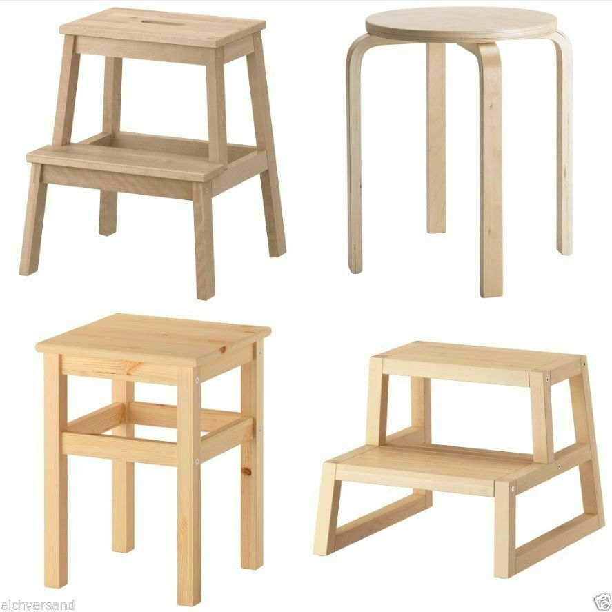 ikea hocker tritthocker stufenhocker oddvar frosta bekv m molger holzhocker ebay. Black Bedroom Furniture Sets. Home Design Ideas