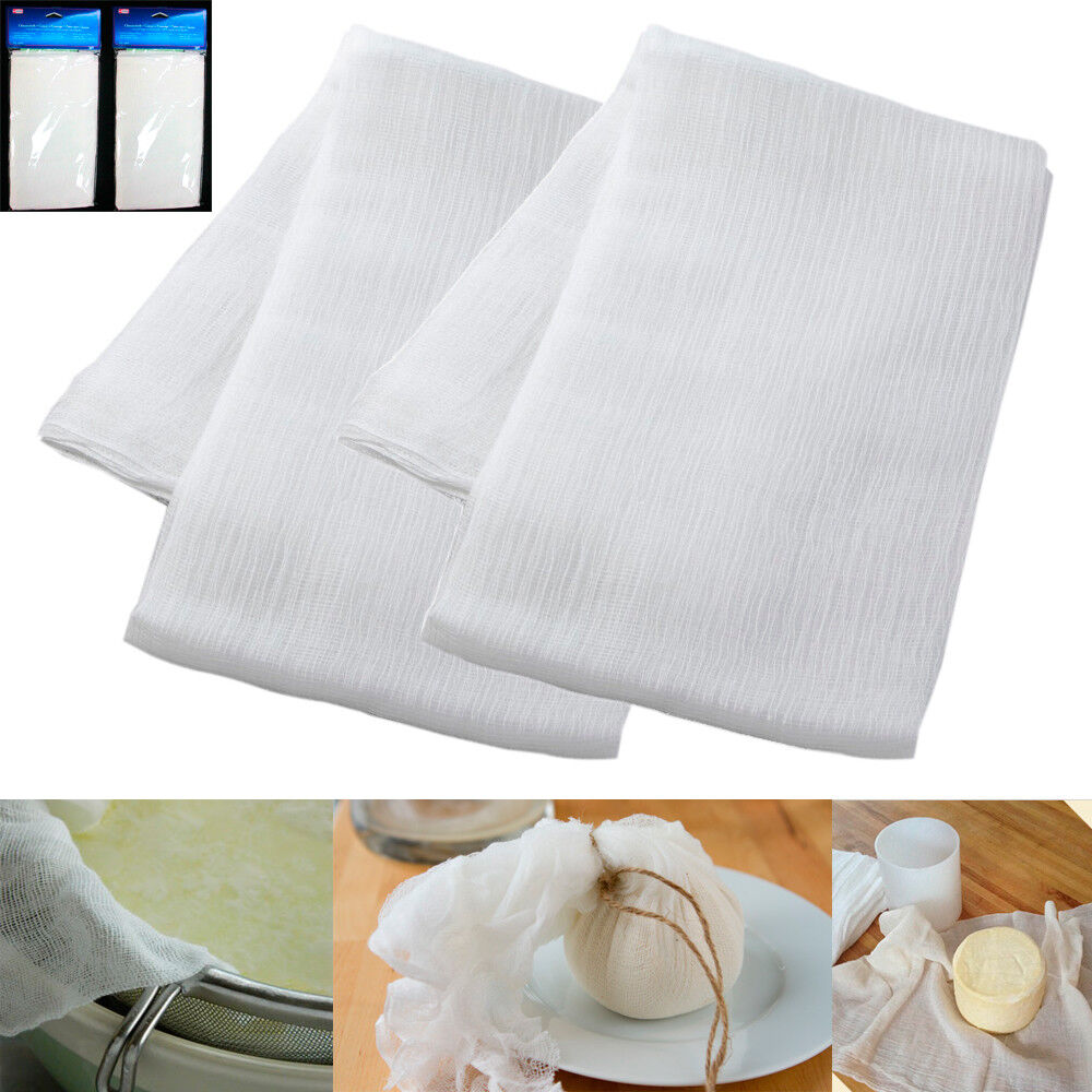 2 Sq Yard Cheesecloth White Gauze Fabric Kitchen Cheese ...