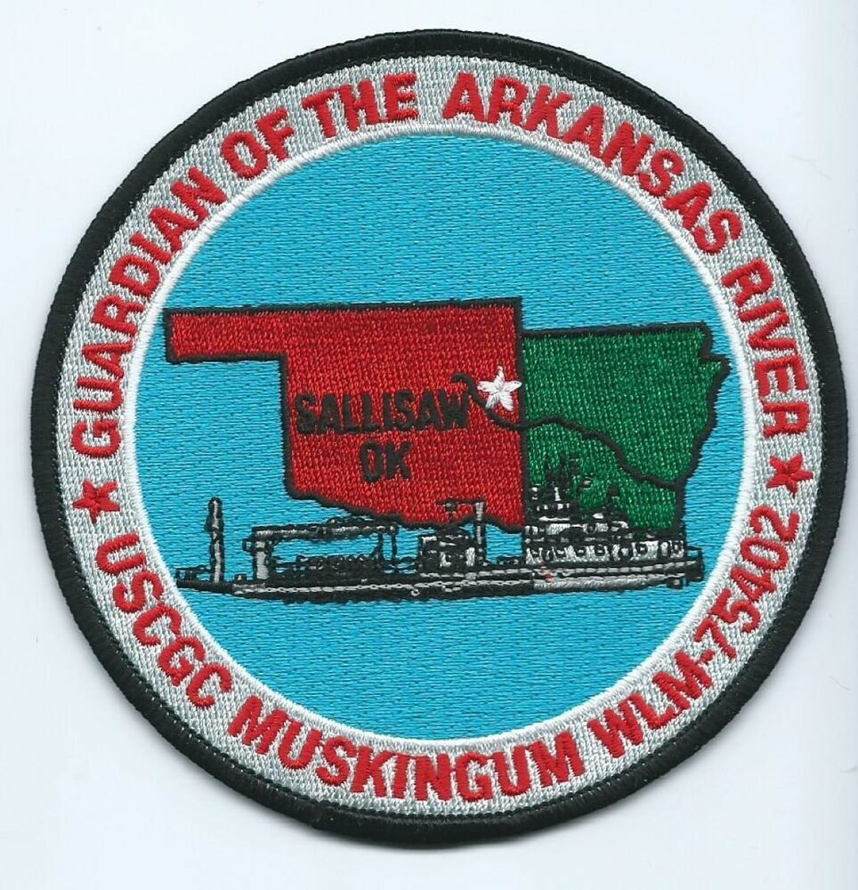Sallisaw (OK) United States  City new picture : United States Coast Guard USCG Patch Muskingum WLM 75402 Sallisaw OK 4 ...