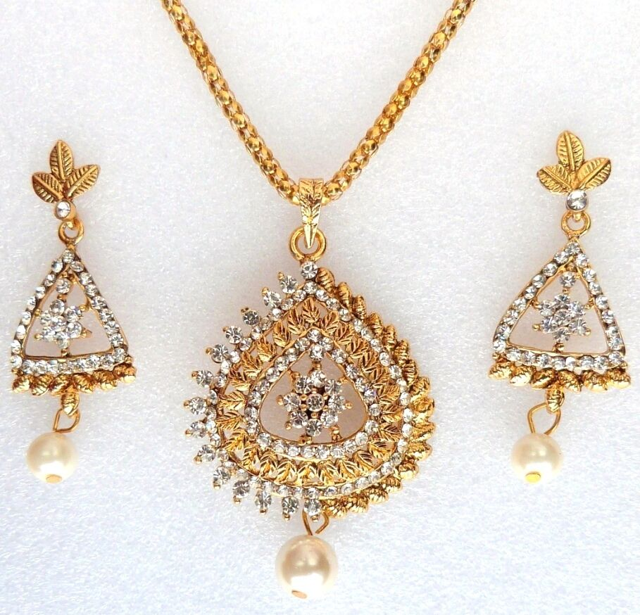 Indian Bollywood Designer Gold Plated Pearls Ethnic ...