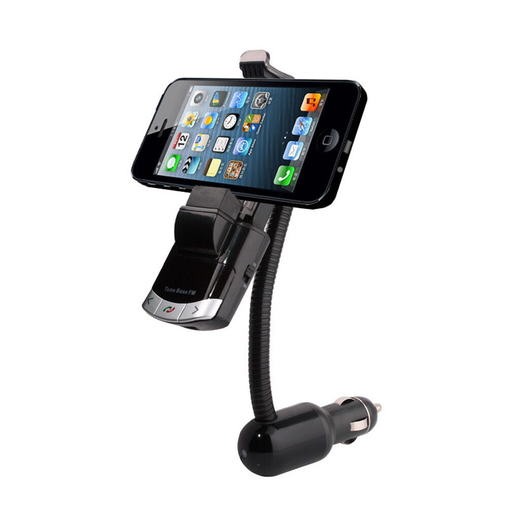 fm transmitter bluetooth mp3 player lcd car kit holder charger for iphone lg ebay. Black Bedroom Furniture Sets. Home Design Ideas