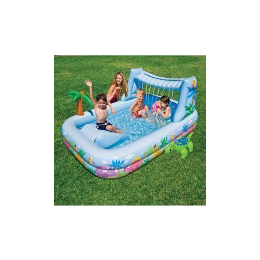 Intex kids swimming pool waterfall inflatable kids pool for Children s garden pools
