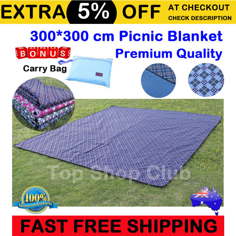 3x3m extra large premium waterproof picnic blanket rug mat for Au maison picnic blanket