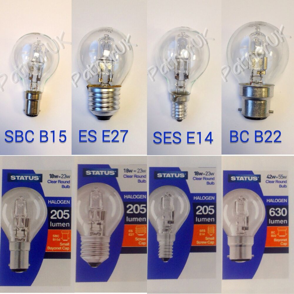 Low Energy Saving Dimmable Halogen Golf Ball Round Light Bulbs BC SBC ES SES   eBay & Low Energy Saving Dimmable Halogen Golf Ball Round Light Bulbs BC ... azcodes.com
