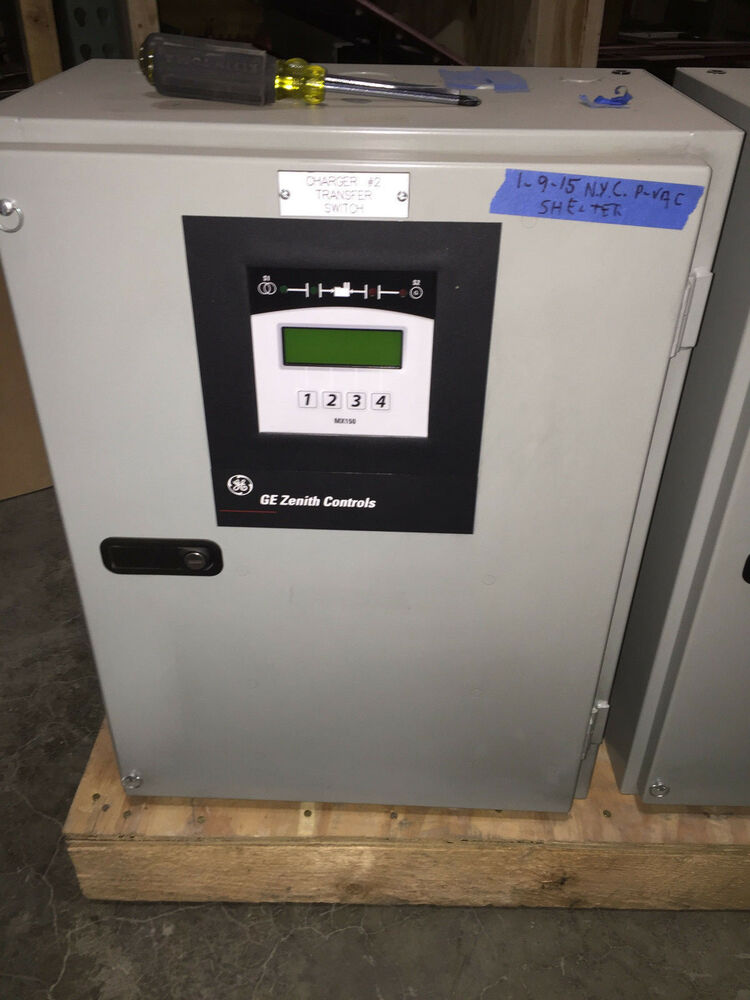 Ge Zenith Ztx Automatic Transfer Switch 80 Amp 3 Phase