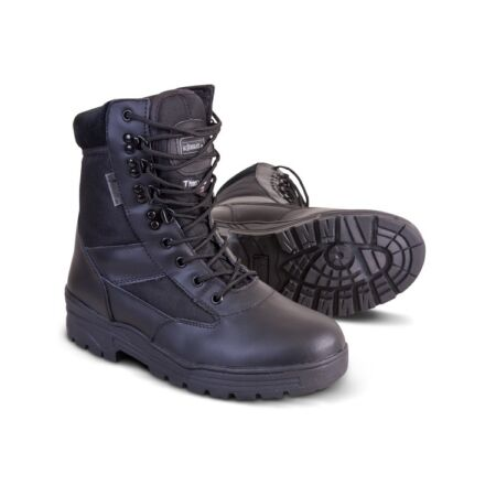 img-Black Leather Army Patrol Combat Boots Tactical Cadet Security Military Boot