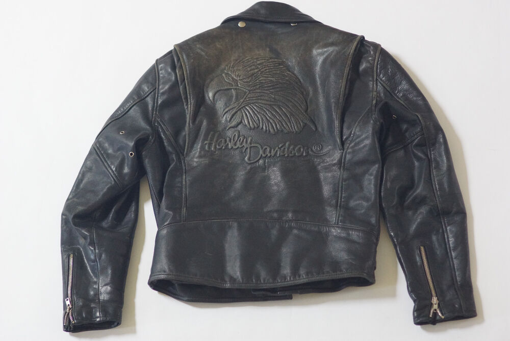 Harley Davidson Men's Vintage ORIGINAL Screamin Eagle Leather Jacket M 42 RARE | eBay