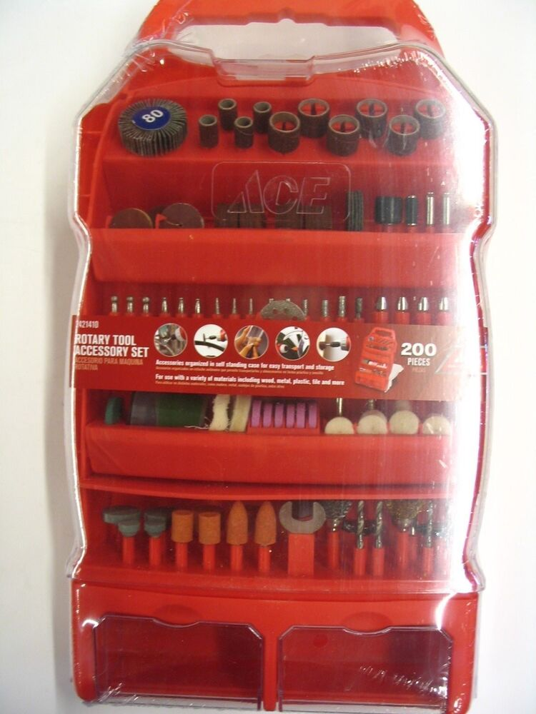 Ace Hardware 200 Pc Rotary Tool Accessory Set For Demel