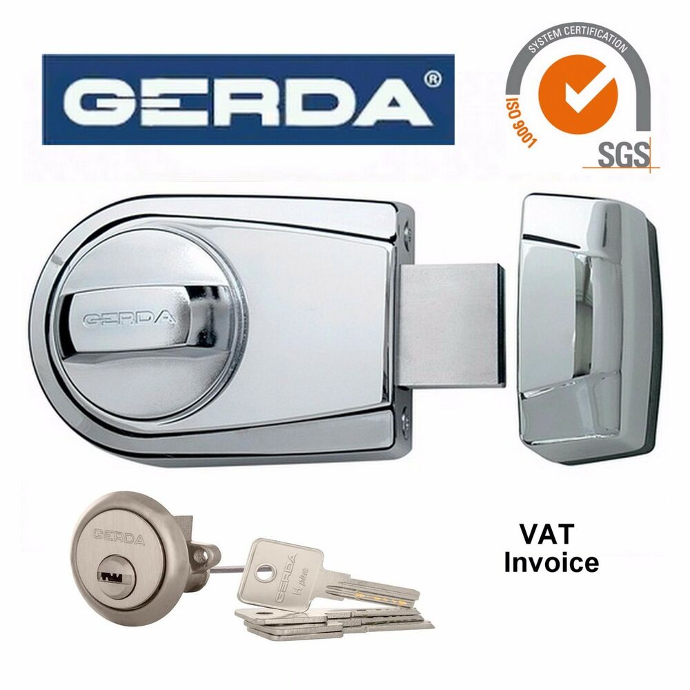 Gerda high quality surface mounted door lock 4 keys zg200s for Surface lock