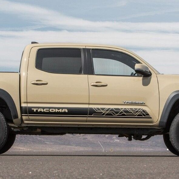 252115622721 moreover Toyota Trd Sports Racing Front Grille Fendes Sticker Car Emblem Badge in addition 2016 Ta a Tailgate Gloss Black Logo Insert additionally Product info also 222037134547. on toyota tacoma decals and stickers
