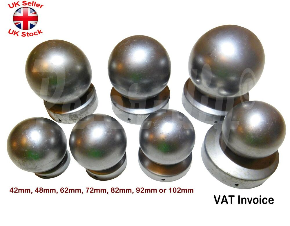 Round Metal Fence Gate Post Cap Caps Flange From 42mm To