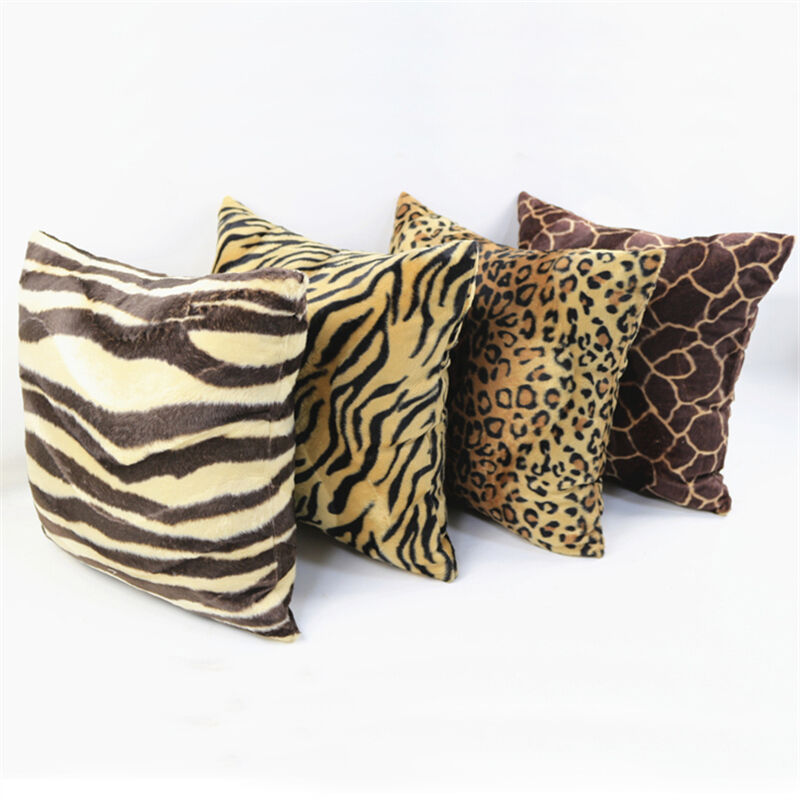 Fashion Pillow Cases Square Animal Print Leopard Zebra Sofa Car Cushion Covers Ebay