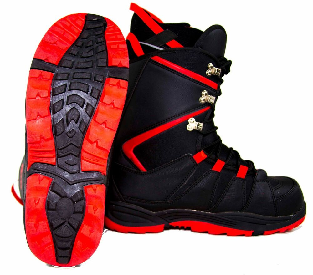 NEW $100 Mens BD Black Dragon Red Snowboard Boots USA Size