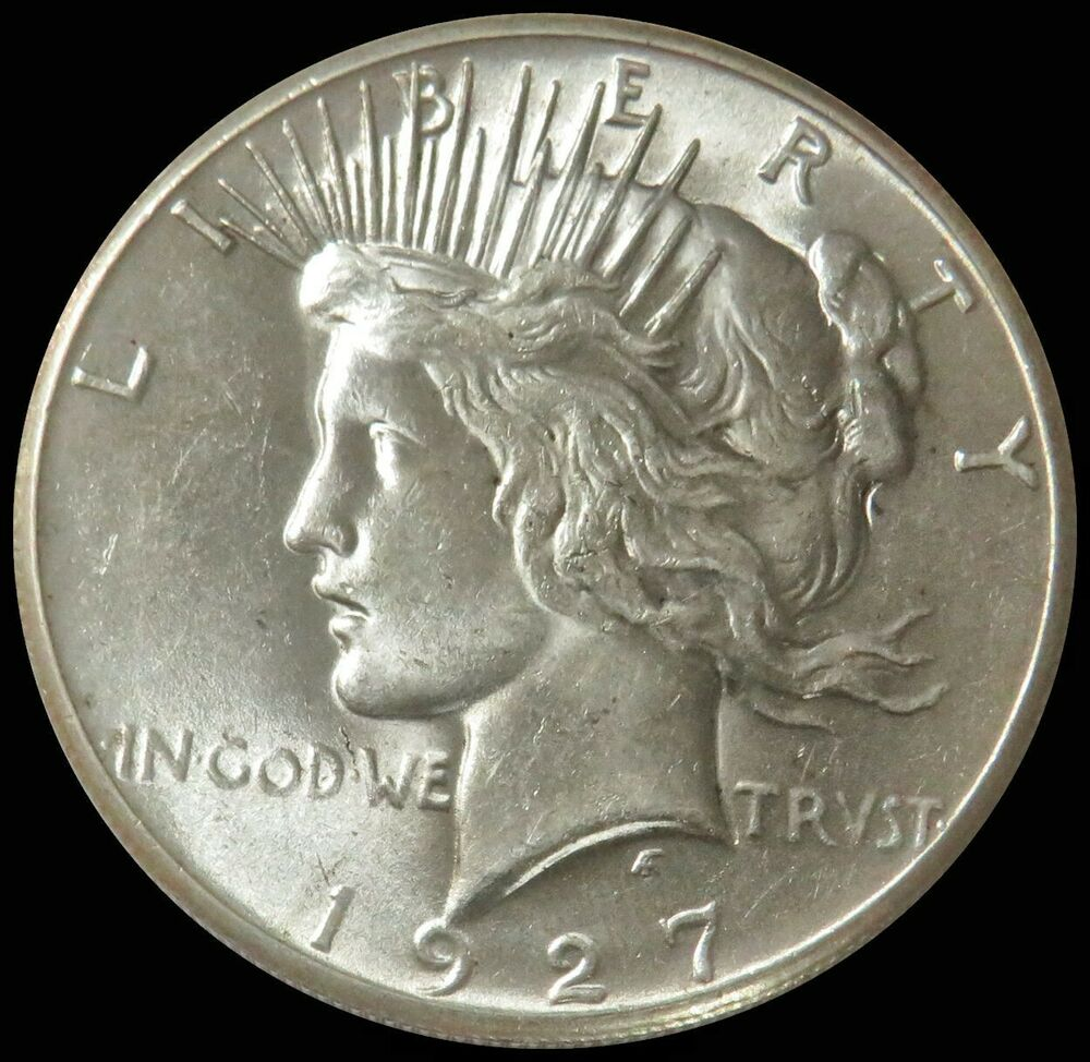 1927 Silver United States Peace 1 Dollar Coin Choice