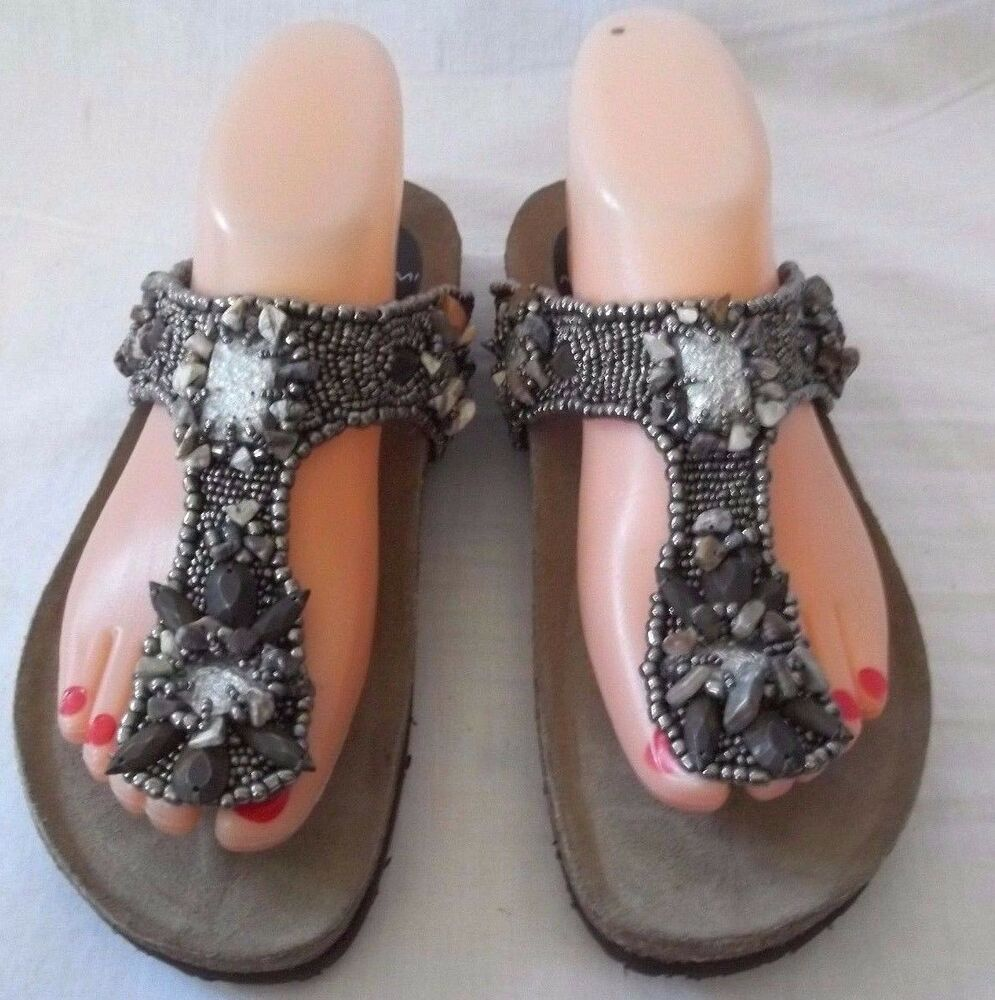 fa0af1b10ba1b Details about Gorgeous Maliparmi Beaded With Stones Sandals Size 36