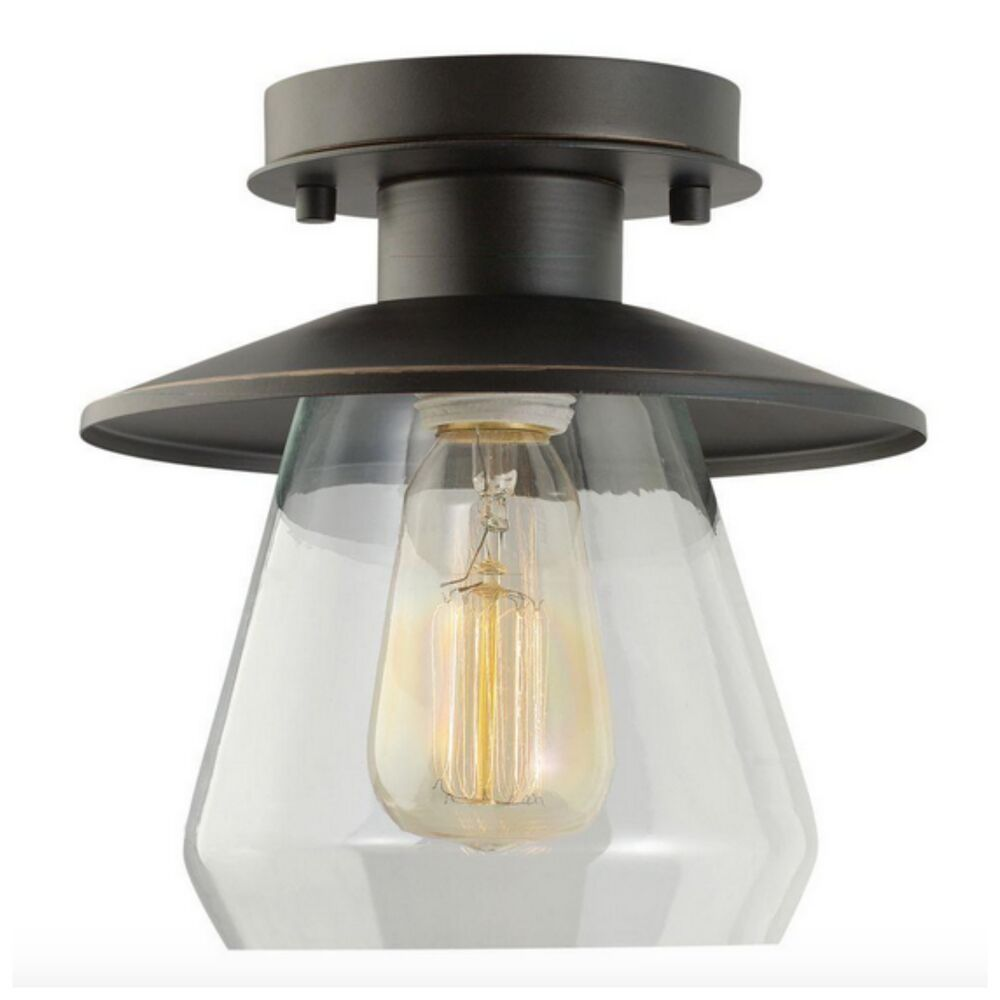 Modern industrial semi flush mount ceiling light lighting - Flush mount bathroom ceiling lights ...