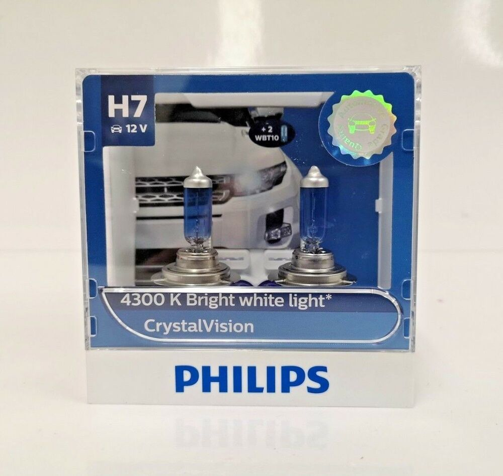 genuine philips h7 crystal vision 4300k with express australia wide delivery ebay. Black Bedroom Furniture Sets. Home Design Ideas