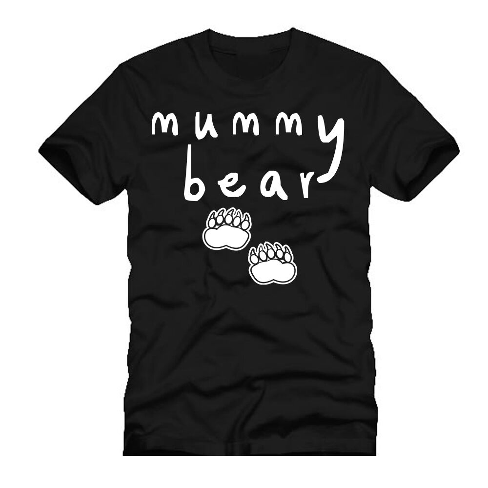 c047e9b7 Details about Mummy Bear T Shirt | Black or White | Cute | New Mum Gifts |  Christmas Gifts