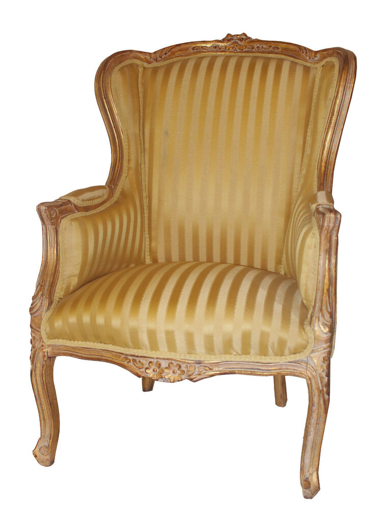 French Louis Tub Gold Shabby Chic Bedroom Hallway Wooden Frame Chair Arm EBay